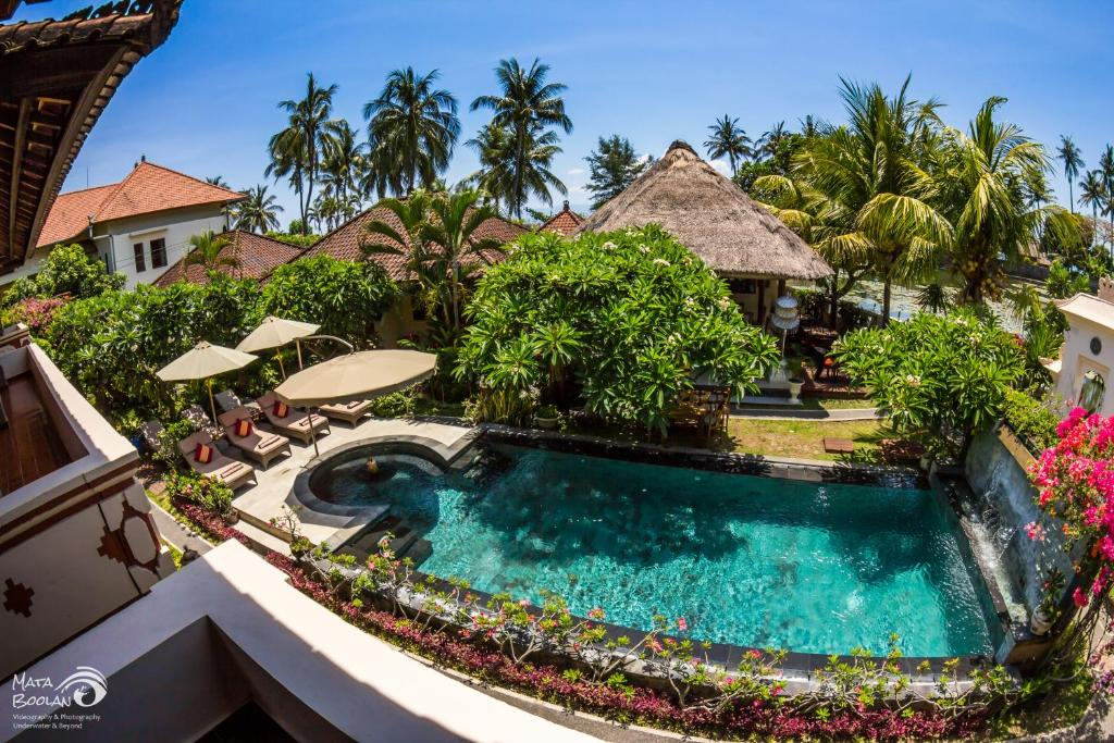 A view of the pool at Rama Shinta Hotel Candidasa or nearby