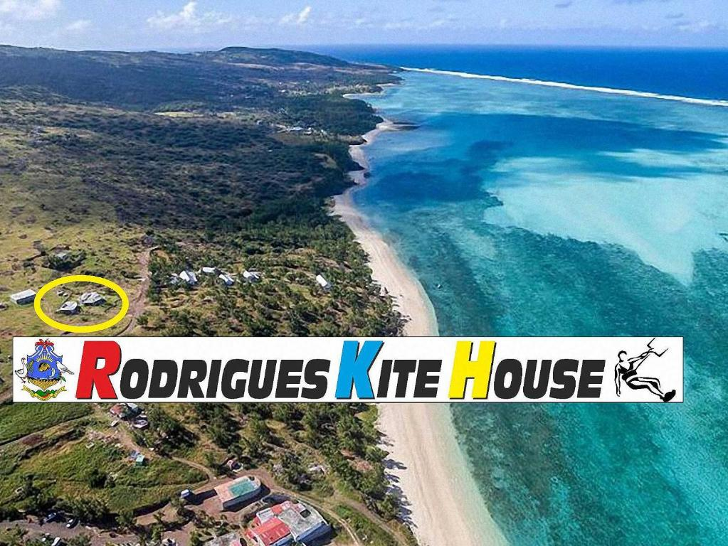 Vista aerea di Rodrigues Kite House