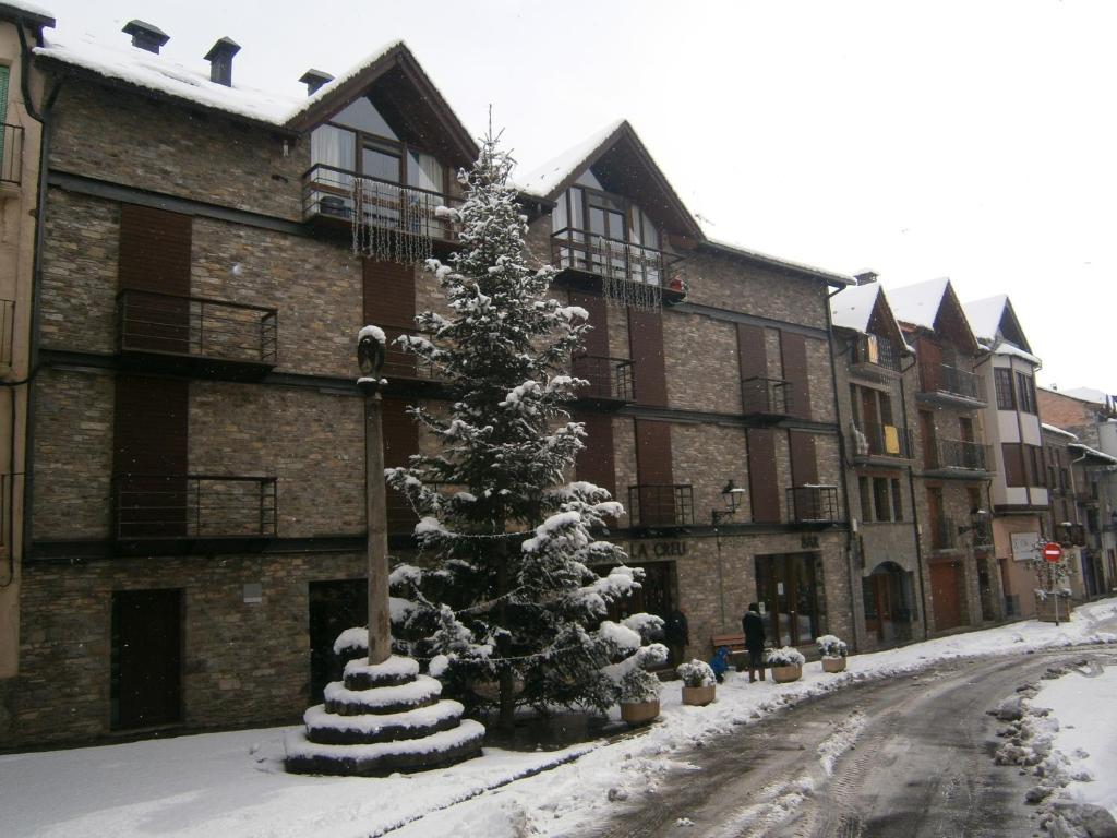 Pensio La Creu during the winter