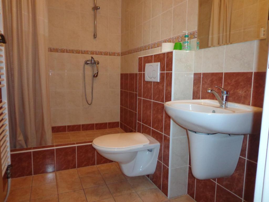 A bathroom at penzión SEMAFOR