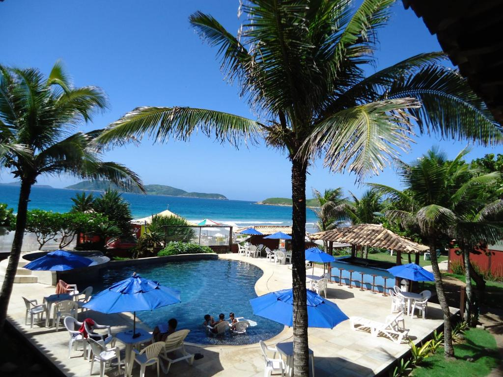 A view of the pool at Hotel La Plage or nearby