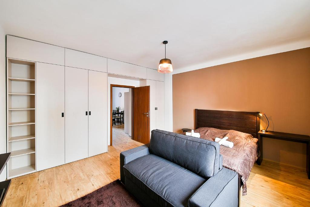 A seating area at VITOM Apartments Ostrava