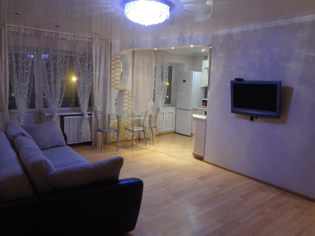 Гостиная зона в Apartment On Lenina 78