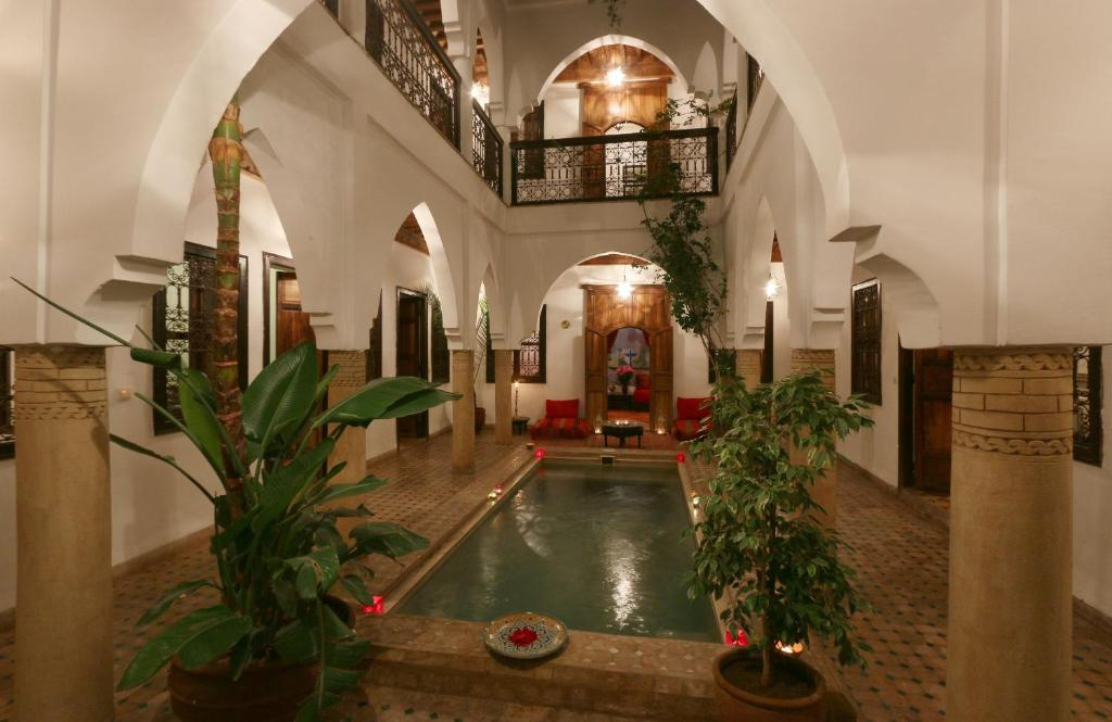 The lobby or reception area at Riad Al Anouwar