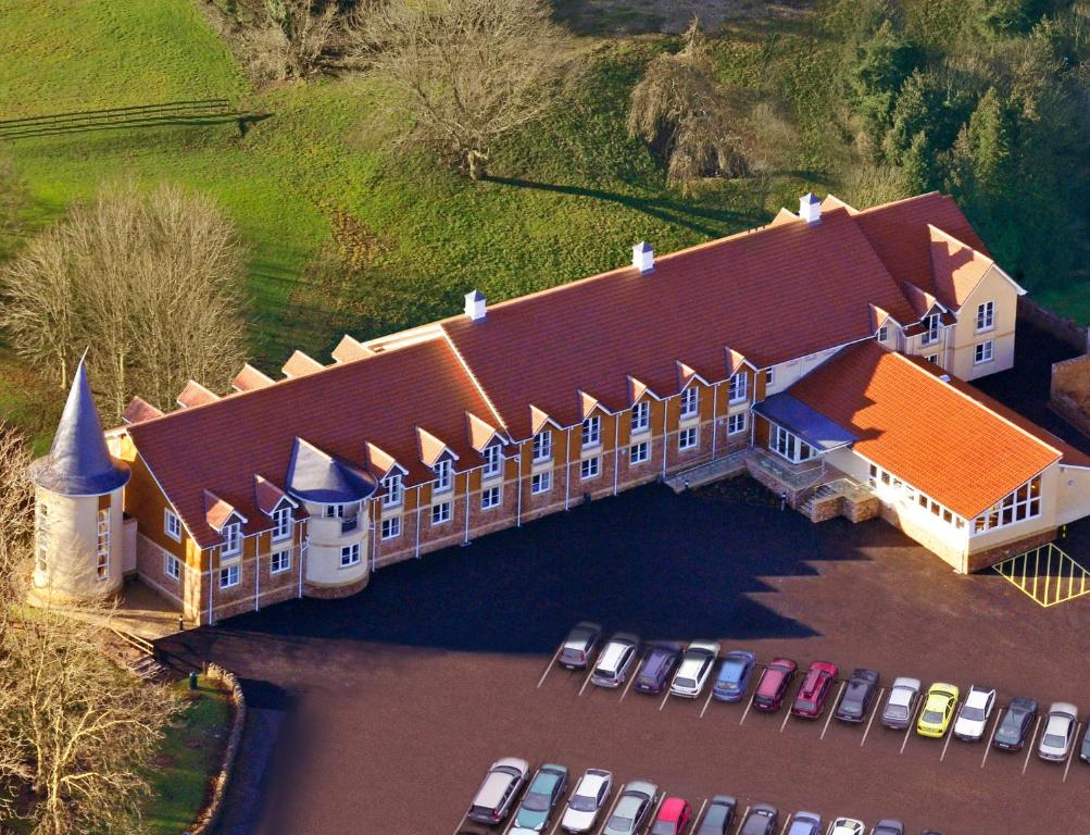A bird's-eye view of Wookey Hole Hotel