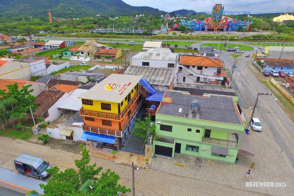 Uma vista aérea de Pousada Casa do Luiggi