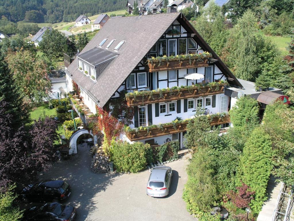 A bird's-eye view of Landhotel Grimmeblick