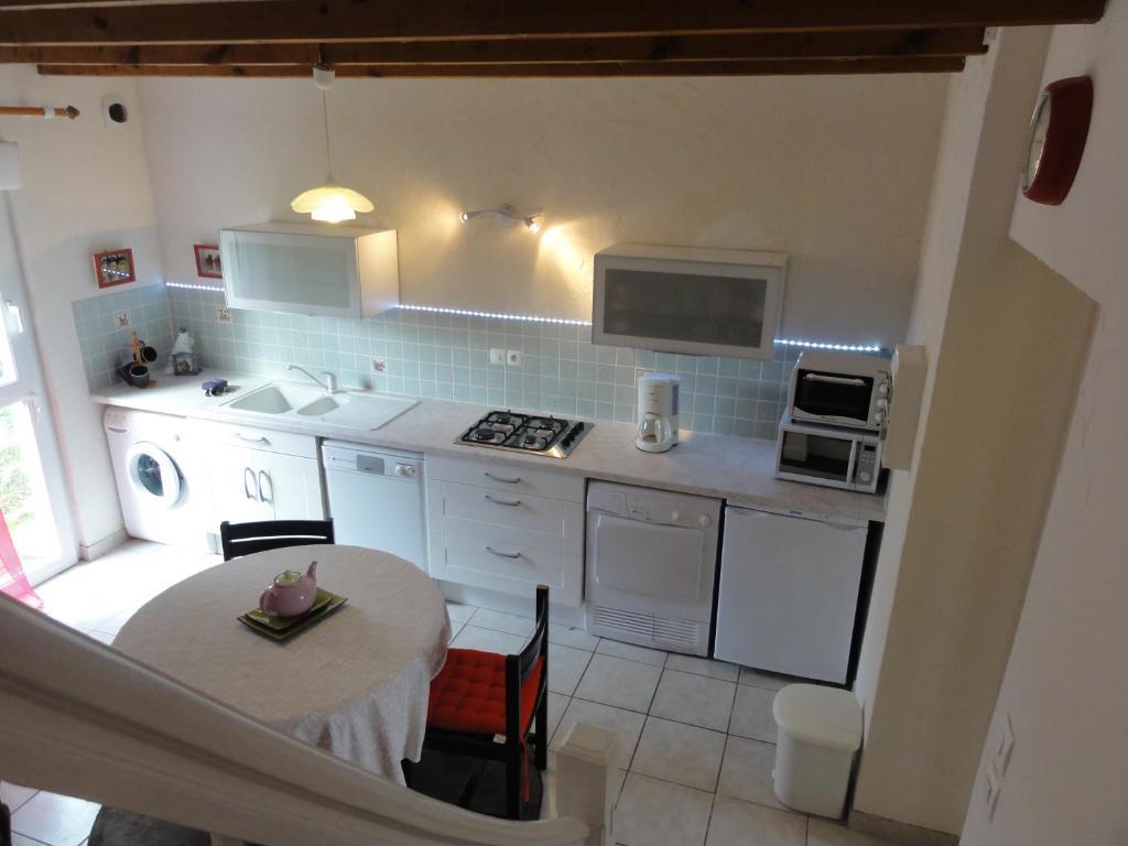 A kitchen or kitchenette at Gîtes Air Marin