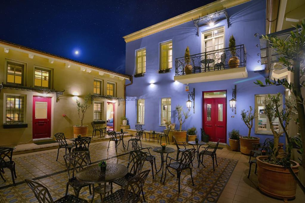 Ο χώρος του lounge ή του μπαρ στο Hotel Antique