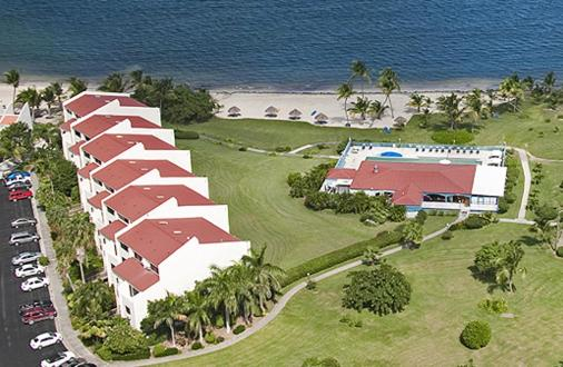 A bird's-eye view of Club St. Croix Beach and Tennis Resort
