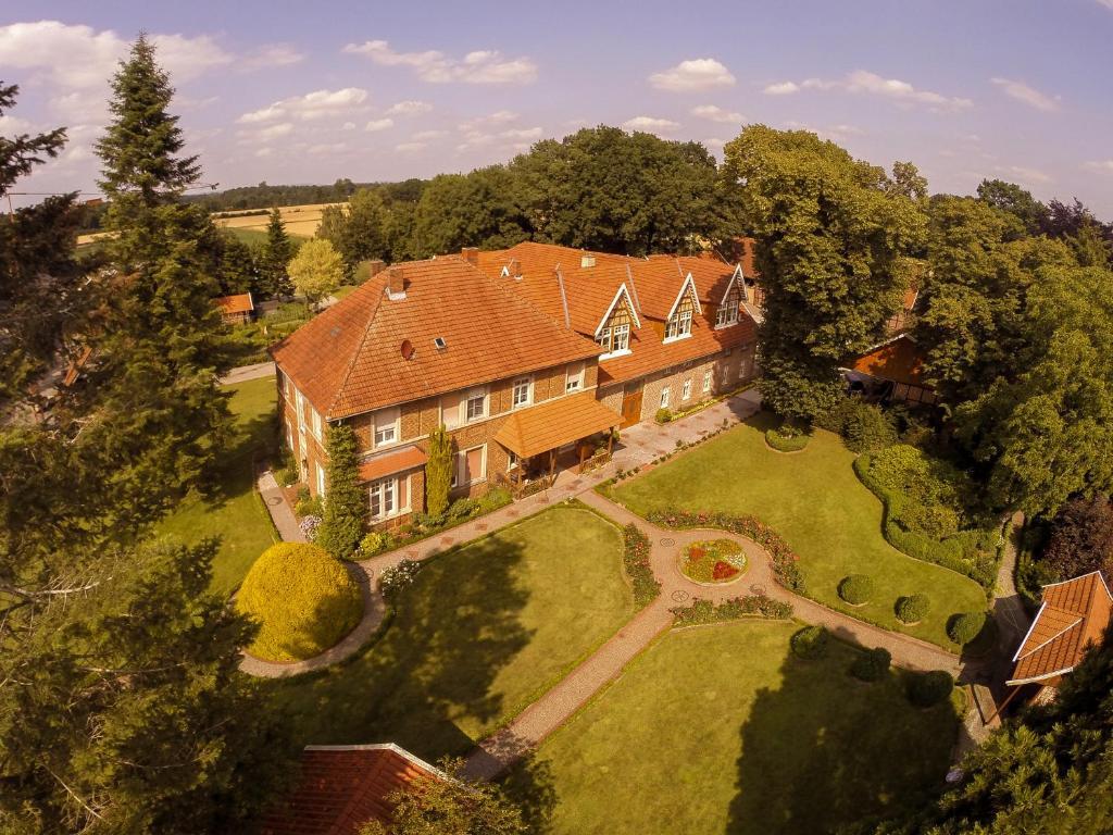 Blick auf Landhaus Schulze Osthoff aus der Vogelperspektive