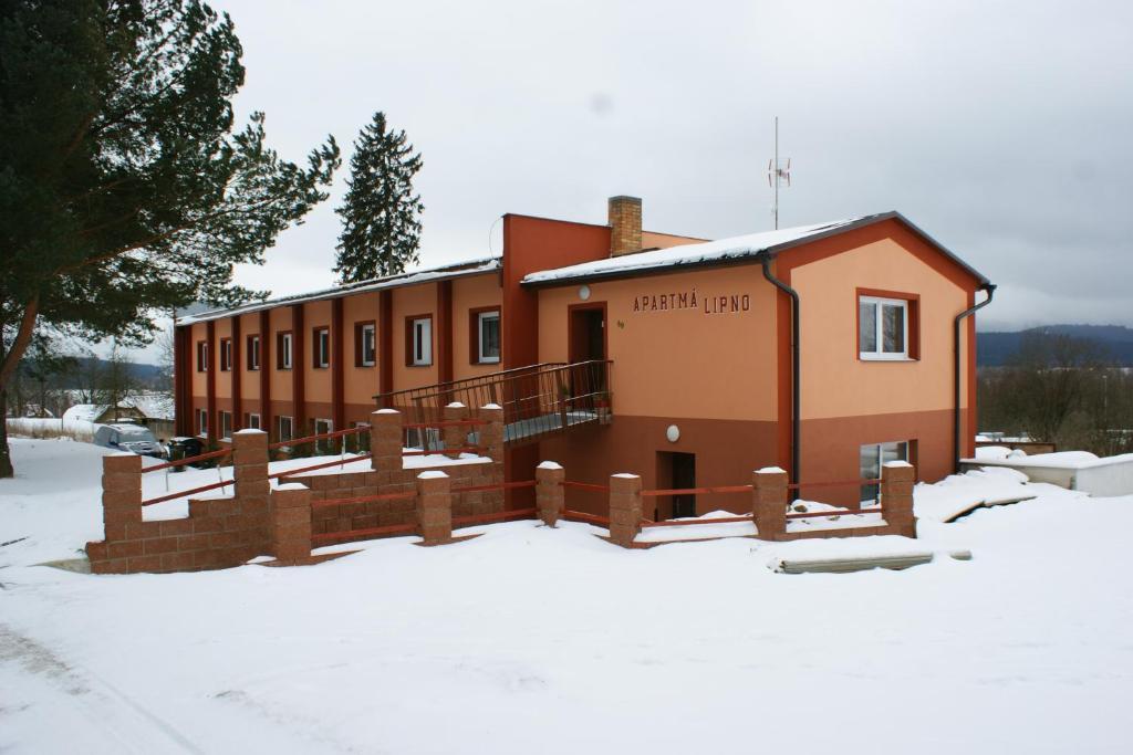 Apartmá Lipno during the winter