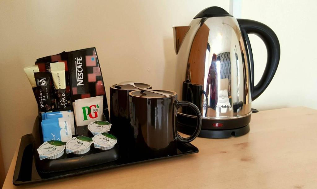 Coffee and tea making facilities at The Langtry Hotel