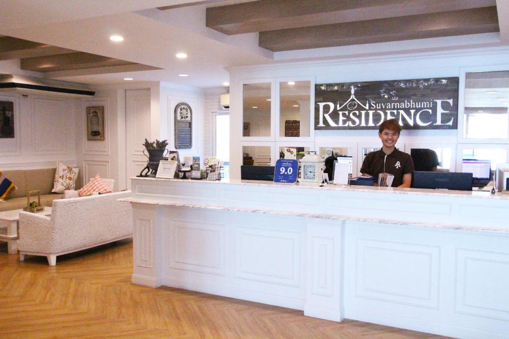 The lobby or reception area at At Residence Suvarnabhumi Hotel