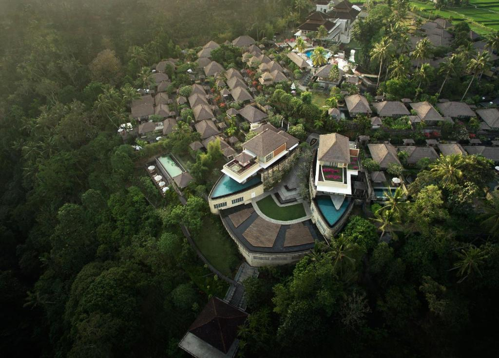 A bird's-eye view of Kamandalu Ubud