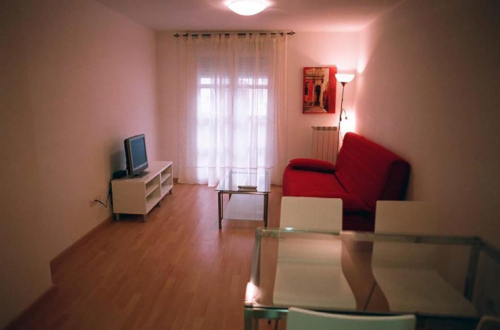 A seating area at Apartamentos Auhabitat Zaragoza, edificio de apartamentos turísticos con facilidad de parking