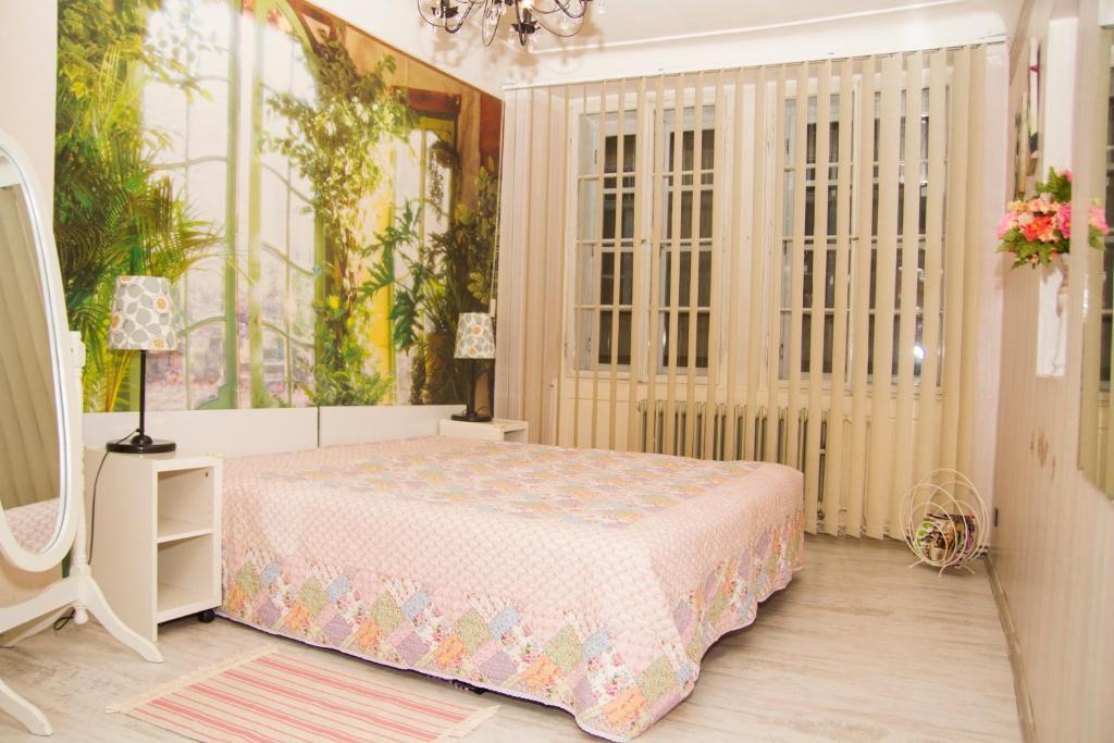 Letto o letti in una camera di Apartmá Karolína