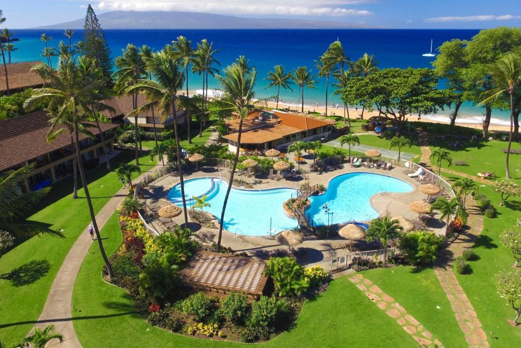 Ein Blick auf den Pool von der Unterkunft Aston Maui Kaanapali Villas oder aus der Nähe