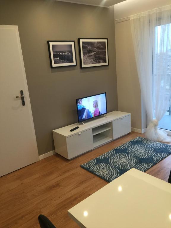 Telewizja i/lub zestaw kina domowego w obiekcie Apartment Gdański Albatros 95
