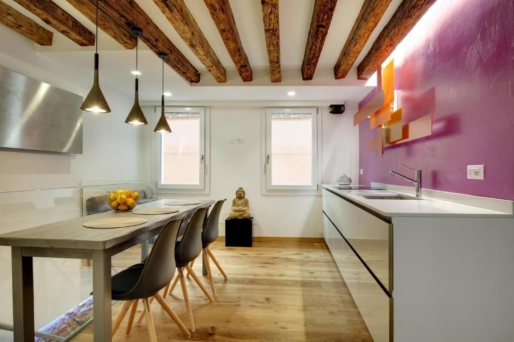 A cozinha ou cozinha compacta de Ca' Bibi