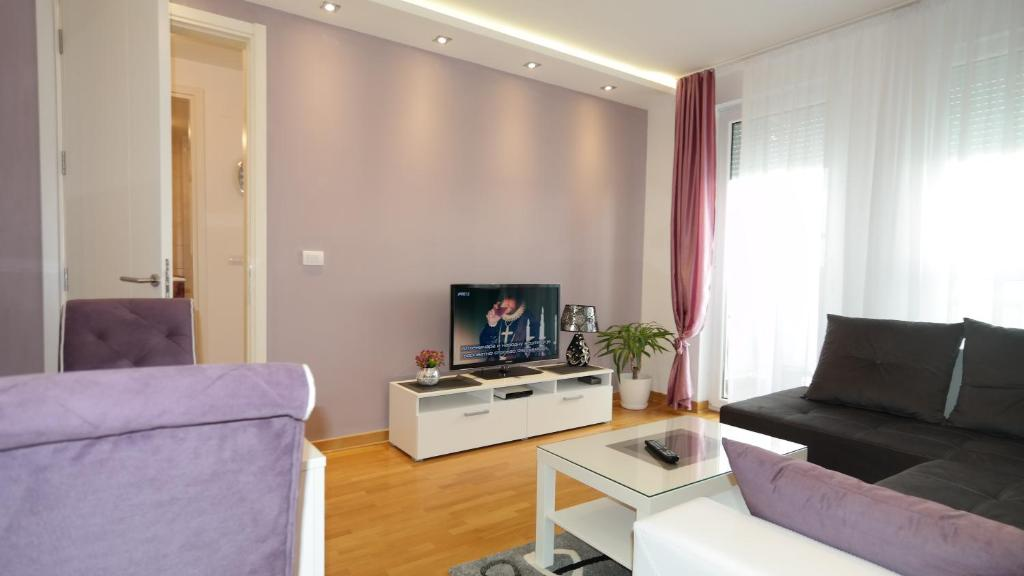 Гостиная зона в Apartments Delta Belgrade