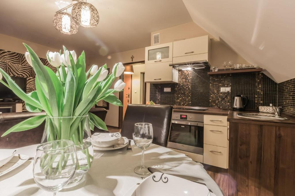 A kitchen or kitchenette at Apart-Styl Apartamenty Zakopane