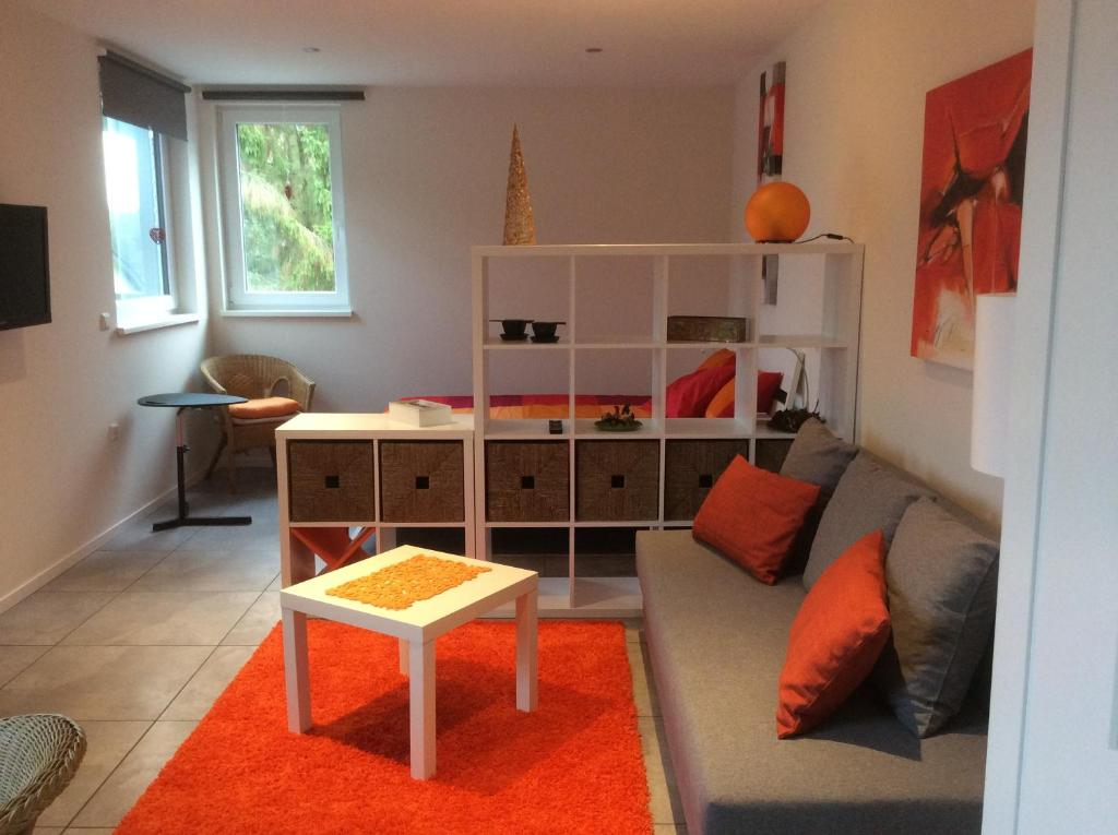 Ein Sitzbereich in der Unterkunft Vakantieverblijf Luxemburg