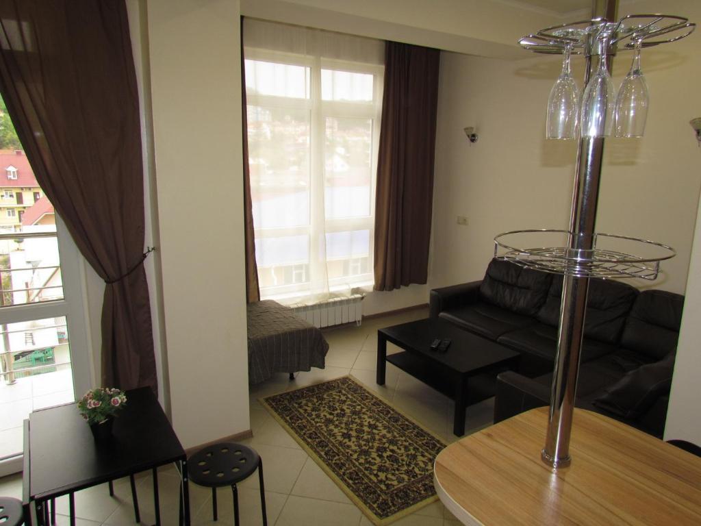 Гостиная зона в Apartment on Prosveshcheniya 148