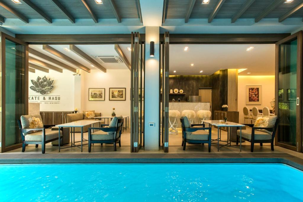The swimming pool at or near Kate and Hasu Boutique Chiangmai