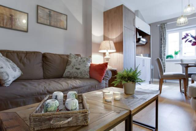 Area soggiorno di Privilege Apartments Kroftova