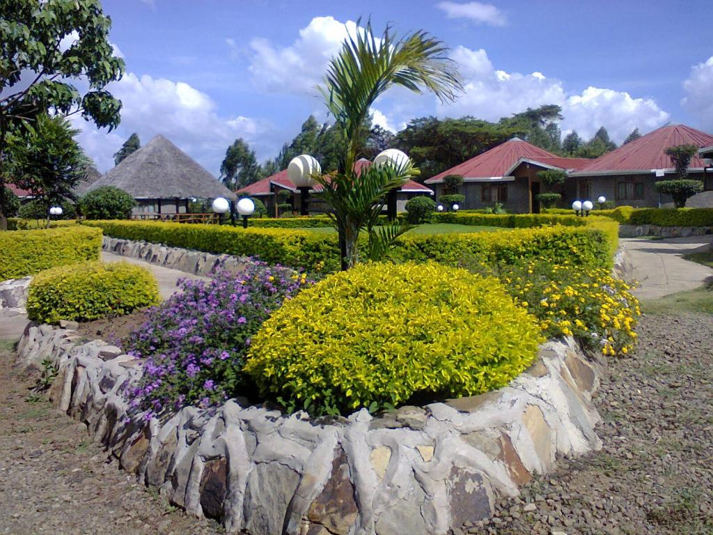A garden outside Tumaini Cottages and Conference Centre