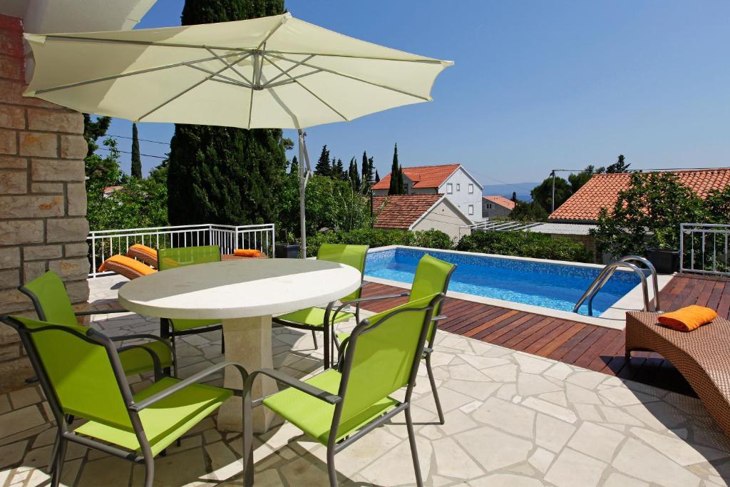 Bazén v ubytování Vacation Home Villa Oleandra nebo v jeho okolí