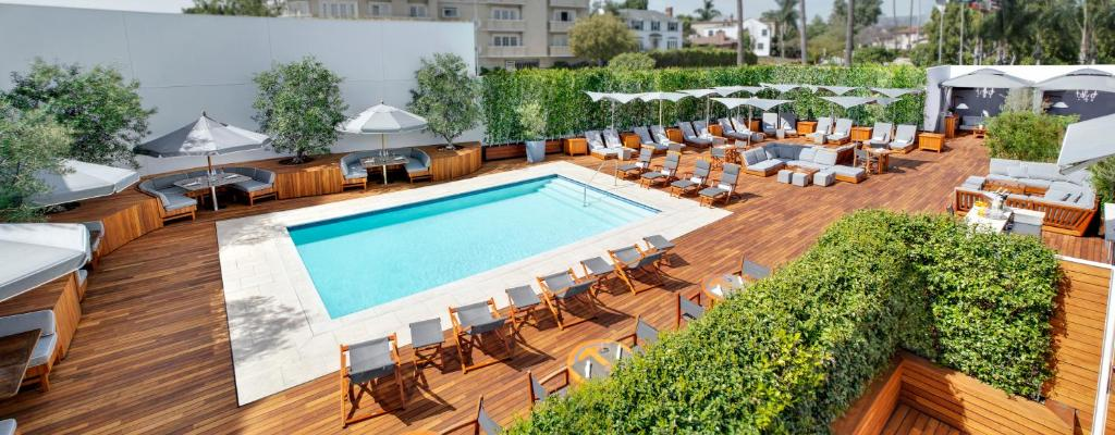A view of the pool at Mr C Beverly Hills or nearby