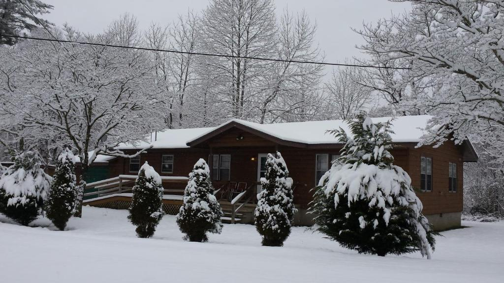Two Rivers Lodge during the winter