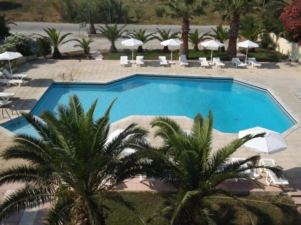 A view of the pool at Leonidas Hotel & Studios or nearby