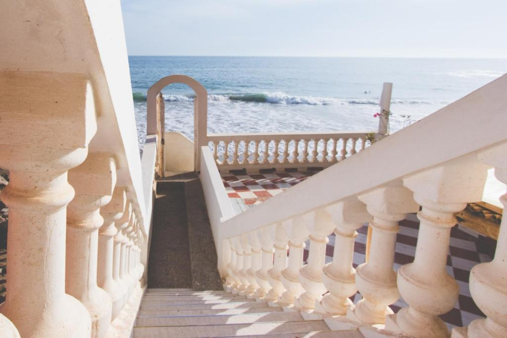 A balcony or terrace at Surf Maroc Taghazout Apartment