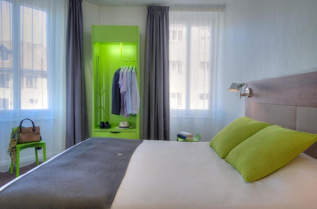 Un ou plusieurs lits dans un hébergement de l'établissement Campanile Annecy Centre - Gare