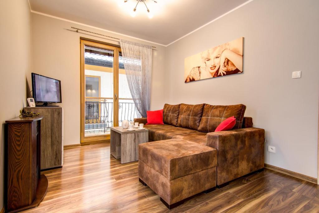 Część wypoczynkowa w obiekcie Apartament Brylantowy Zakopane