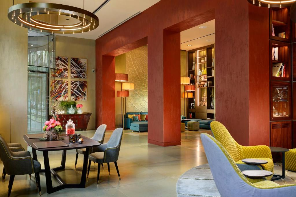 A restaurant or other place to eat at Enterprise Hotel Design & Boutique