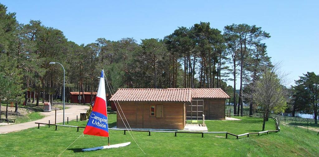 Children's play area at Camping Urbion