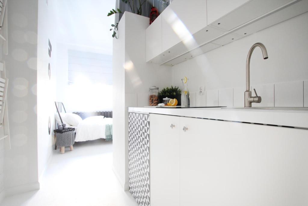 Kuchnia lub aneks kuchenny w obiekcie Bunga Apartament