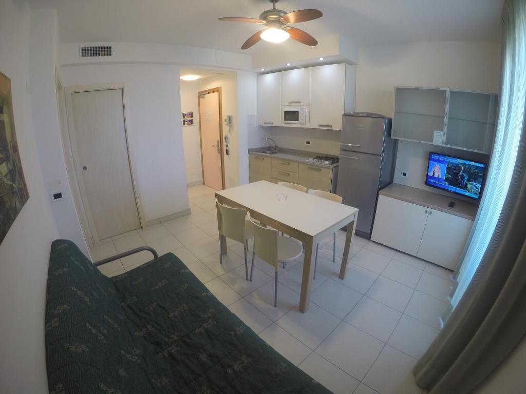 Kuchyň nebo kuchyňský kout v ubytování Residence Zenith