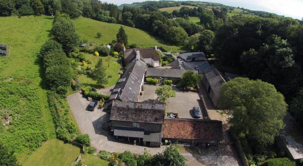 A bird's-eye view of Budleigh Farm Cottages