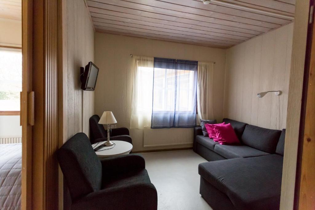Oleskelutila majoituspaikassa Hotel Rinssi-Eversti