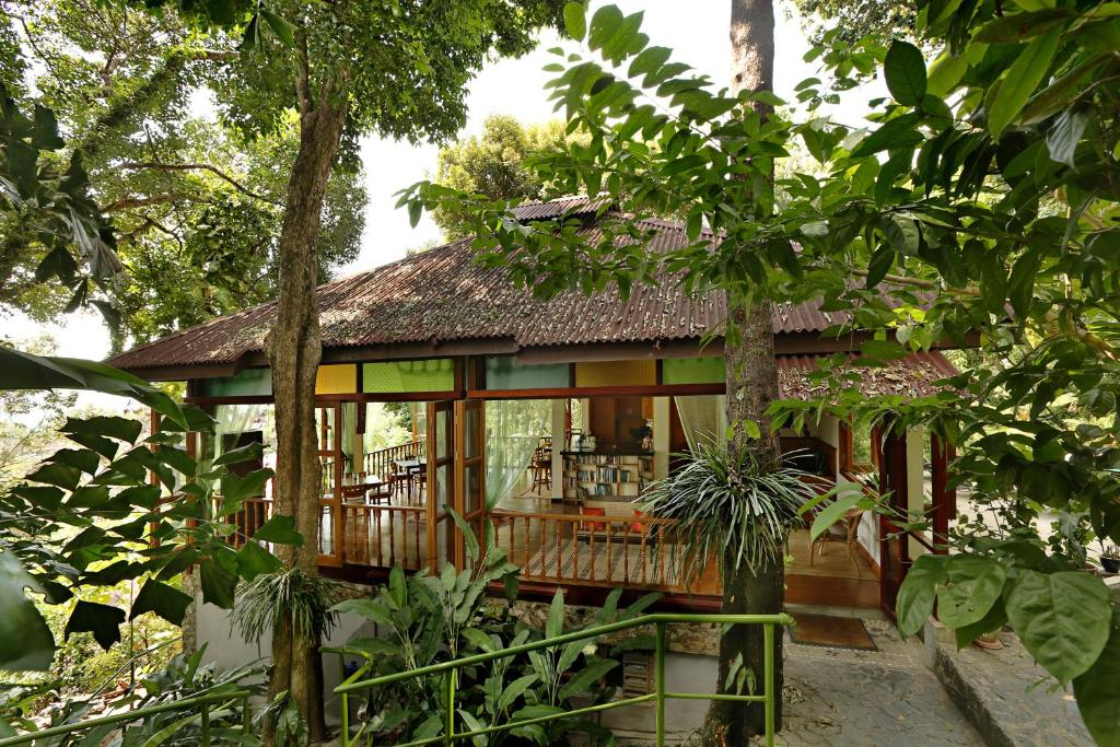 A porch or other outdoor area at Ambong-Ambong Langkawi Rainforest Retreat