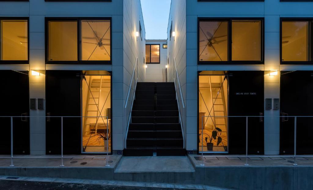 The facade or entrance of Smi:re Stay Tokyo