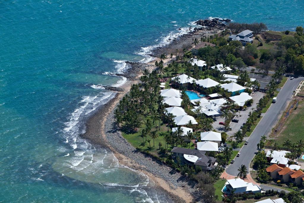 A bird's-eye view of Dolphin Heads Resort