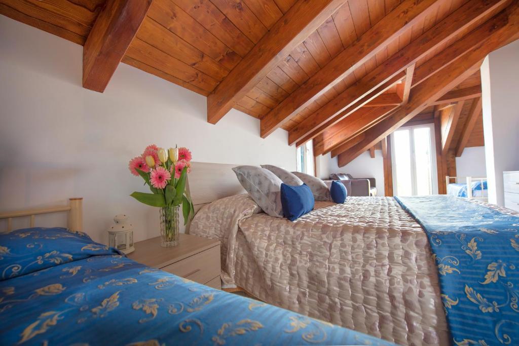 Letto o letti in una camera di Hotel Bristol