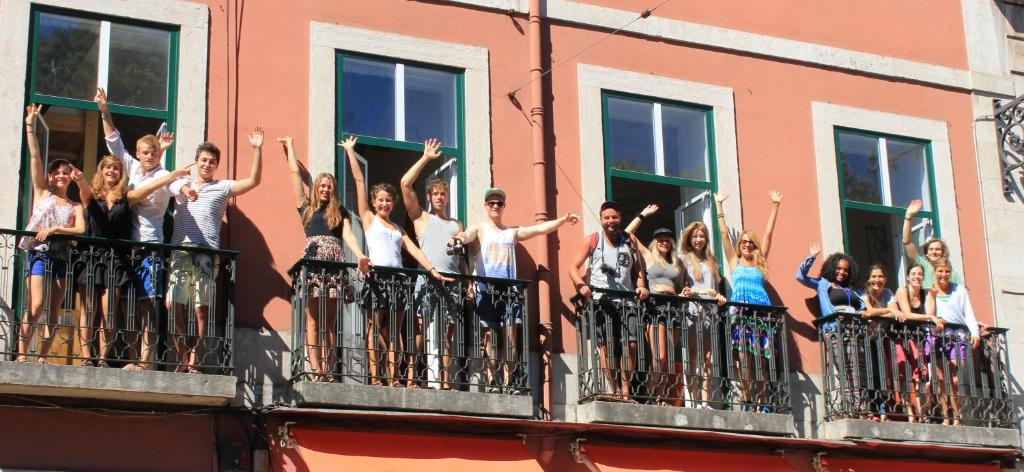 Members of staff at Lookout Lisbon Hostel