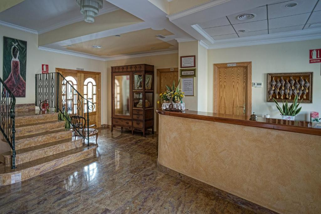 The lobby or reception area at Hotel La Posada
